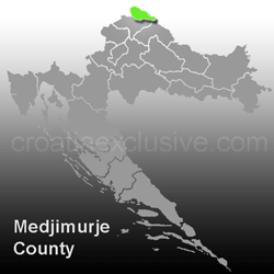 Map of Medjimurje County (Medjimurska Zupanija)