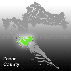 Map of Zadar County (Zadarska Zupanija)